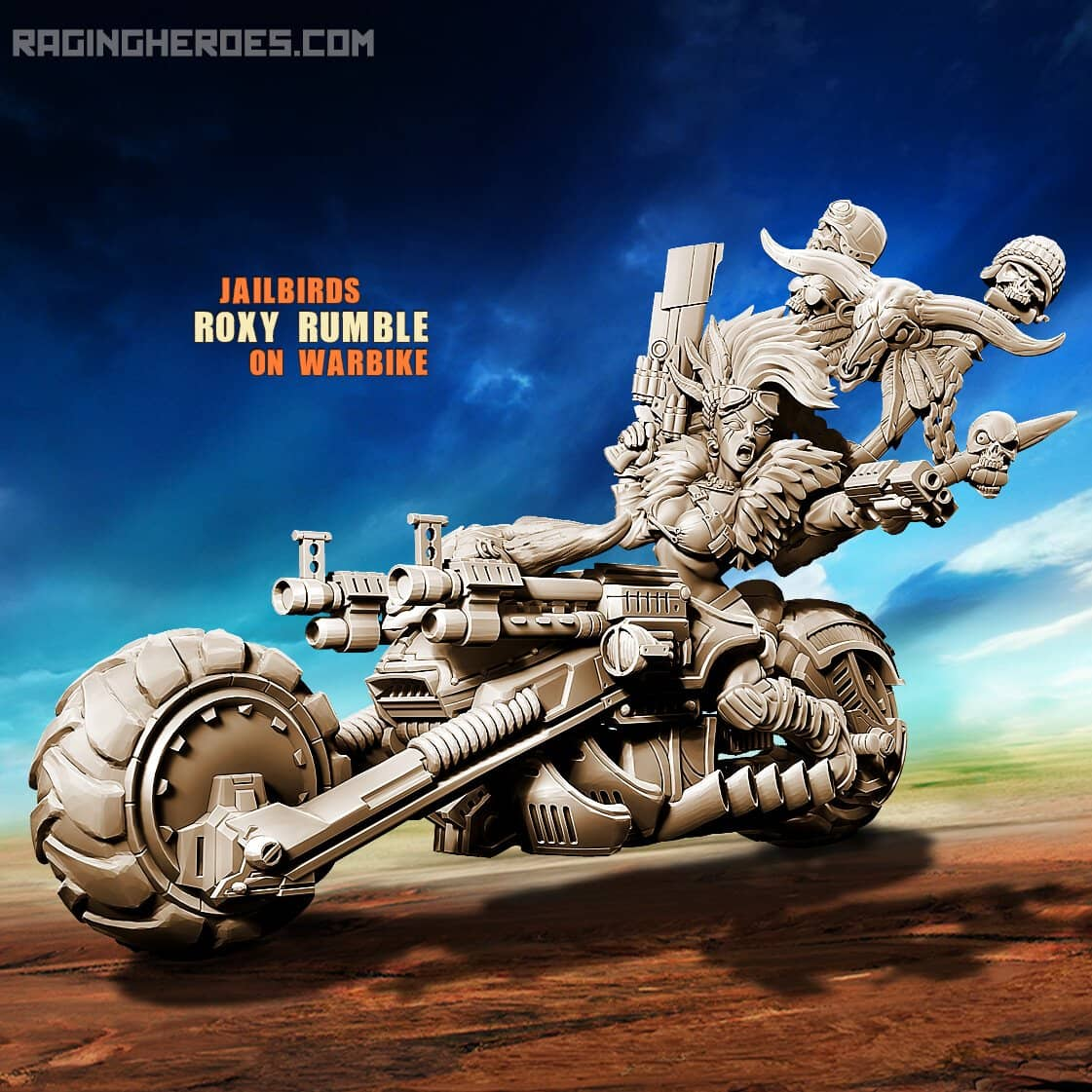 Roxy Rumble on Warbike (JB - SF) - Raging Heroes