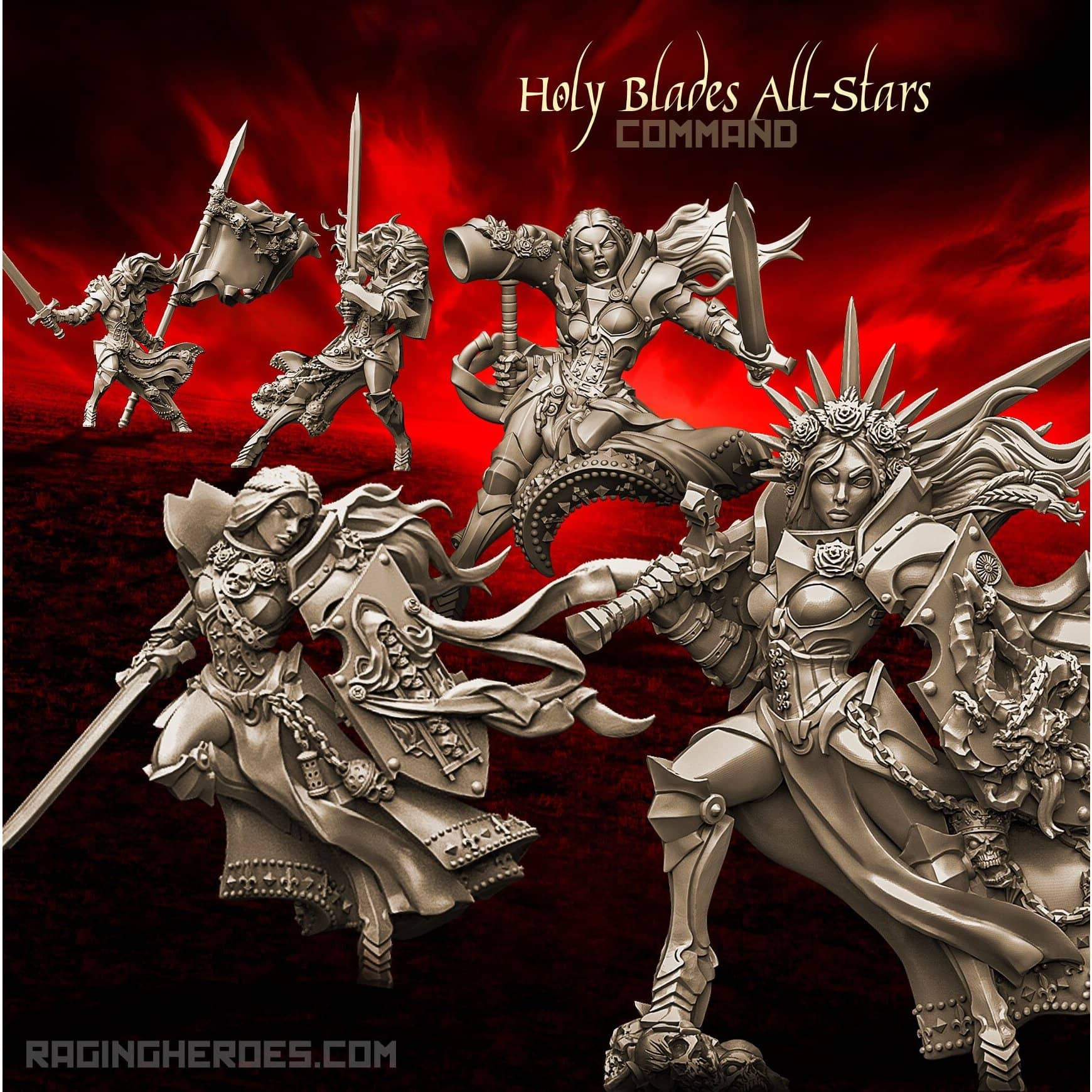 Holy Blades All-Stars - COMMAND Group (SotO - F) - Raging Heroes