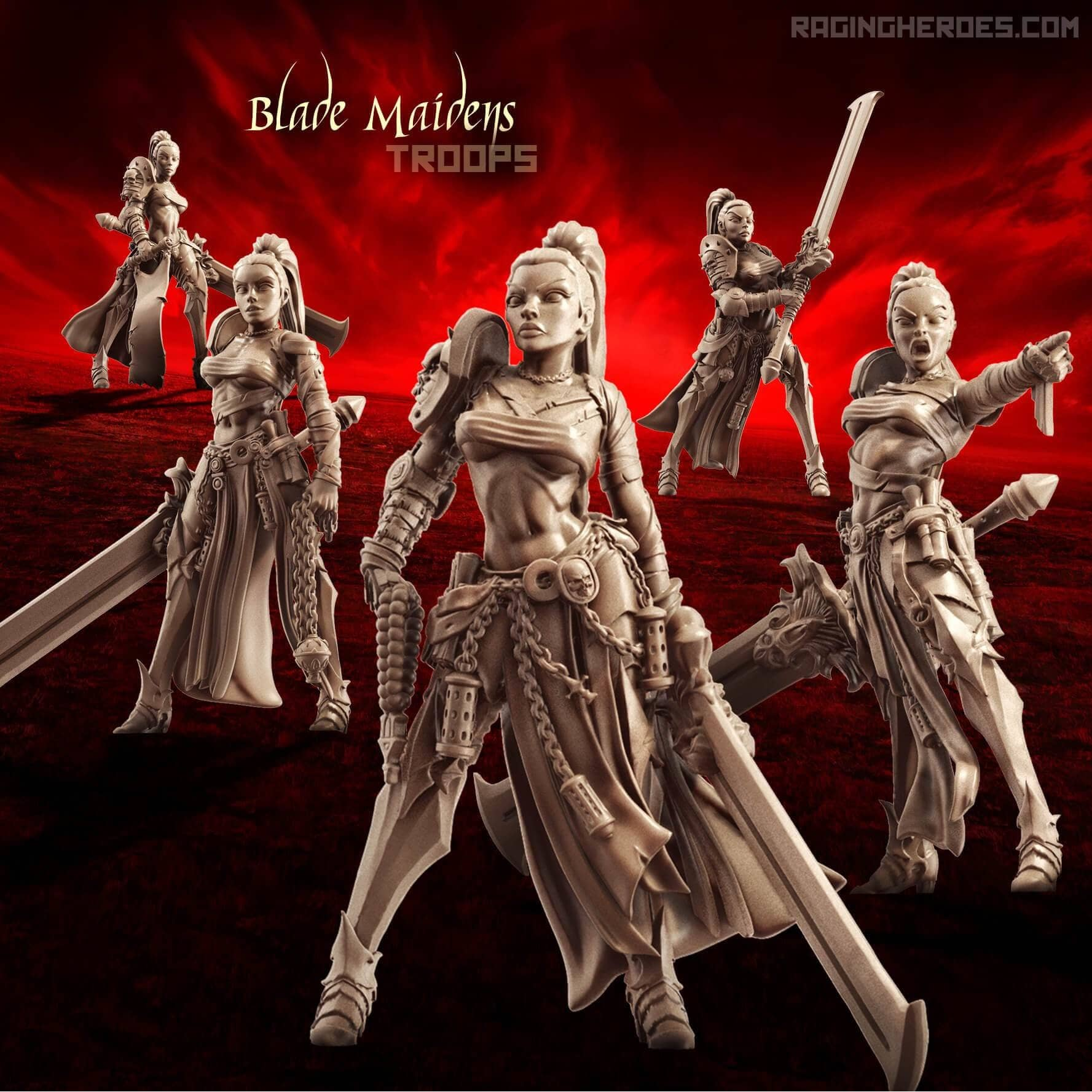Blade Maidens - TROOPS (SotO - F) - Raging Heroes