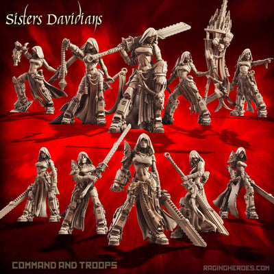 Davidians Pack - Command + Troop (SoEM - SF) - Raging Heroes
