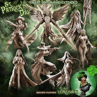 FOREST Sisterhood EXTENDED Pack - St. Patrick's Day (Fantasy) - Raging Heroes
