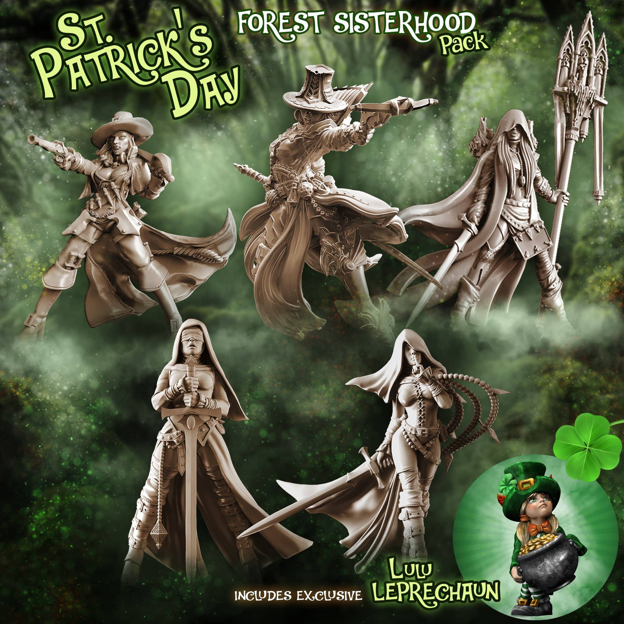 FOREST Sisterhood Pack - St. Patrick's Day (Fantasy) - Raging Heroes