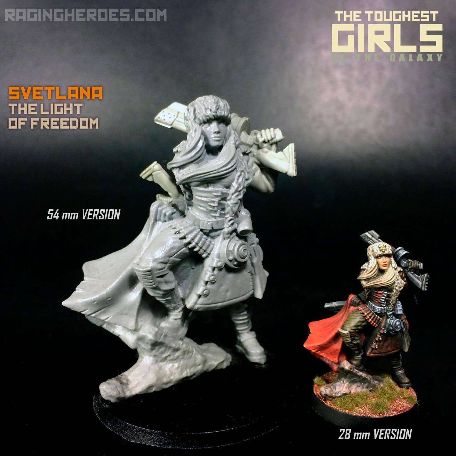 Svetlana, the Light of Freedom (KST) 54mm Heroic Scale - Raging Heroes
