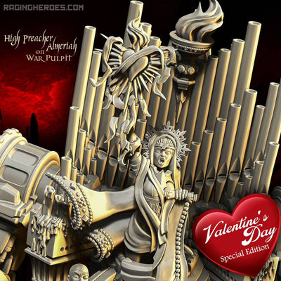 High Preacher Almeriah on War Pulpit VALENTINE'S DAY Special Edition (SoEM - SF) - Raging Heroes