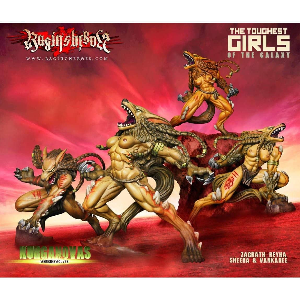 WereSheWolves BOX of 4 (KST) - Raging Heroes