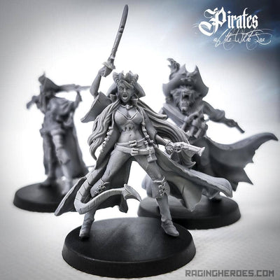 Zassaryah Wave Slasher, Half Demon 1st Mate (P - F) - Raging Heroes