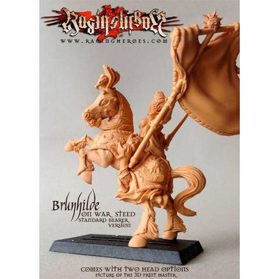 Brunhilde with Great Banner on War Steed - Raging Heroes