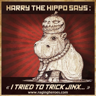 TALL Harry the baby Hippo, JB Mascot - Raging Heroes