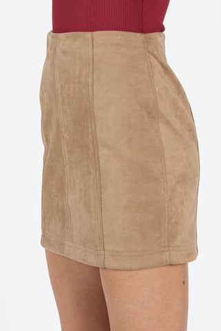 Nicole Faux Suede Skirt - Shop On Lazy Days