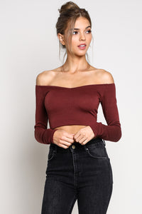 Hailey crop top off from Indie Designer's boutique