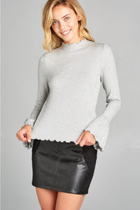 Taylor top with long bell sleeve from On Lazy Days Contemporary Fashion Boutique