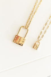 Small Padlock Necklace