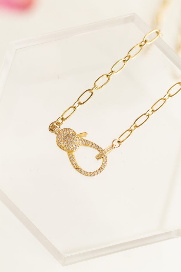 Clawz Pave Lobster Necklace