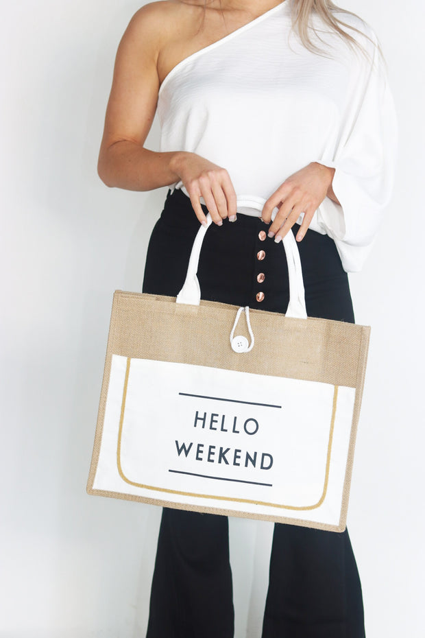 Hello Weekend Tote