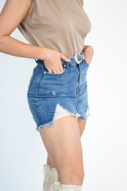 Wild West Denim Skirt