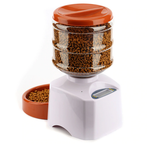Automatic Dog or Cat Food Dispenser with LCD Screen and Meal Portion Control