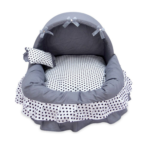 Cat or Dog Bassinet  Bed - Luxury Princess Basket Bed in Three Sizes Available