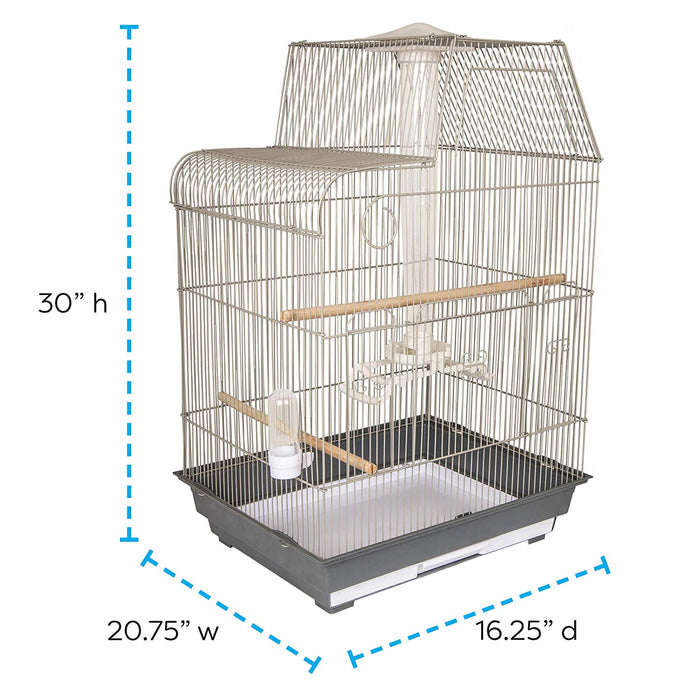 Best Cockatiel/ Conure Cage with Built-in Feeder, Waterer, Wooden Perches