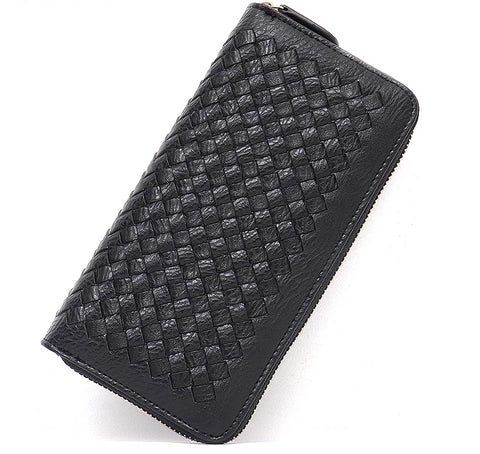 Stylish Vegan Woven Wallet - Eco-Friendly in Many Colors with 5 Compartments, Holds Phone