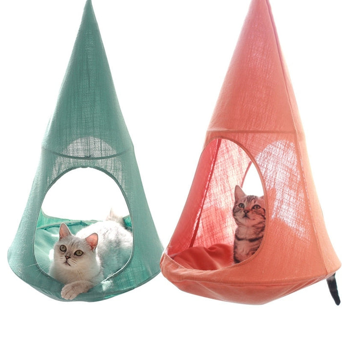 Magic Forest Hanging Cat Bed - Cat Hammock with Soft Bed