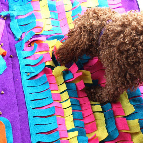 Dog Snuffle Mat - Washable Snuffle Training Rug with Detachable Fleece Pads, Machine Washable