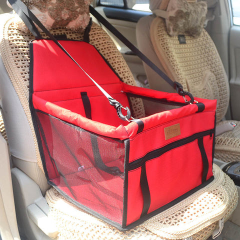 Image of Stylish and Secure Dog Booster Seat - Waterproof with Safety Belt in 7 Different Styles