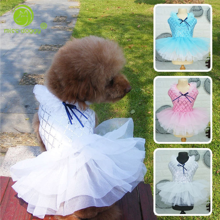 Princess Dog Dressing Gown - Fashionable, Machine Washable Dress for Dogs, Sizes S-XXL