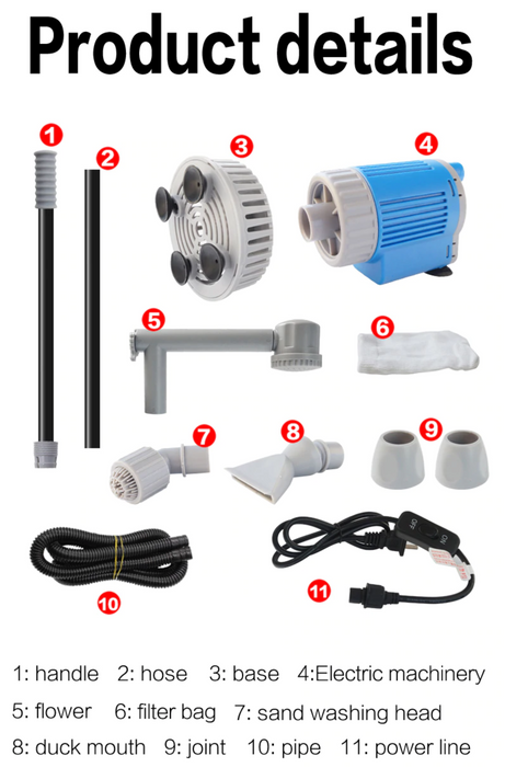 Automatic Water Changer - No Spill Electric Water Change System and Sand Washer for an Aquarium