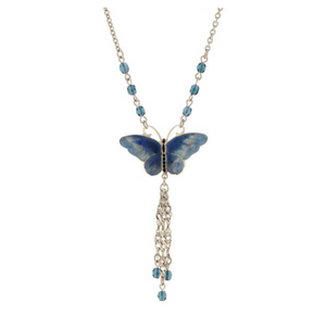 Crystal Butterfly Necklace - Available in Multiple Colors