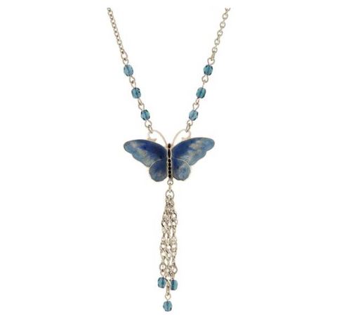 Image of Crystal Butterfly Necklace - Available in Multiple Colors