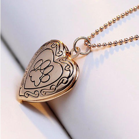 """Cherish in Heart"" Silver/Gold Pet Memory Locket"