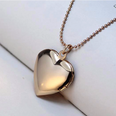 "Image of Pet Memorial Locket ""Cherish in Heart"" - Silver or Gold Color"