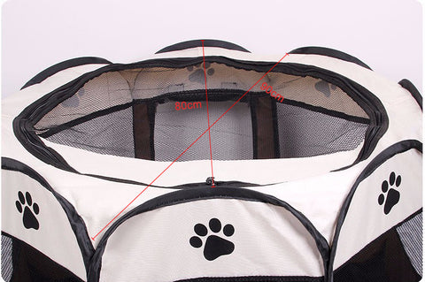 Original Octagonal Easy-Fold Pet Playpen/Activity Center for Cats and Small Dogs