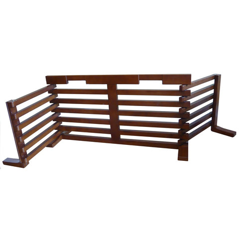 "Merry Products Adjustable Wood Pet Gate for Cats and Dogs - 71"" in Width"