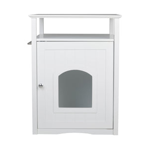 Merry Pets Cat Litter Washroom - Available in White, Espresso, and Walnut