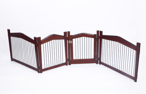 Large Pet Gate and Crate 2-in-1 - Gate Turns Into Beautiful Wood Pet Crate