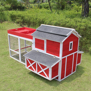 Large Sturdy Chicken Coop / Hen House Easy Assemble with Rooftop Planter Boxes