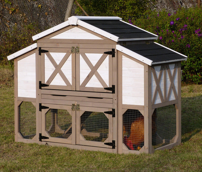 Large Chicken Coop / Hen House - Country Style with Free Shipping Included