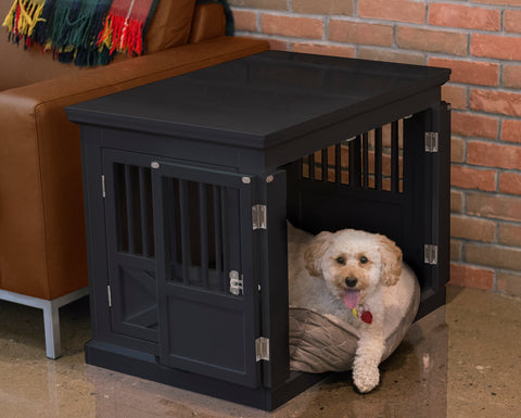 Large Pet Crate Furniture for Dogs/Cats with Triple Doors For Easy Crating