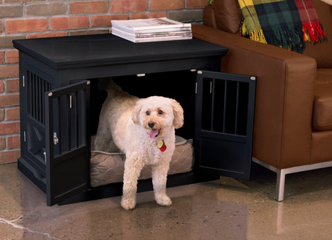 Image of Large Pet Crate Furniture for Dogs/Cats with Triple Doors For Easy Crating