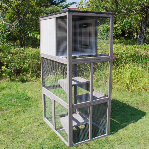 Image of Outdoor Cat Enclosure - Multi-Cat Climber House by Merry Products