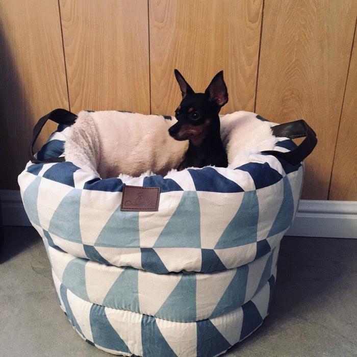 Dog Nesting Bed - Portable Soft Pet Bed for Small Dogs or Cats
