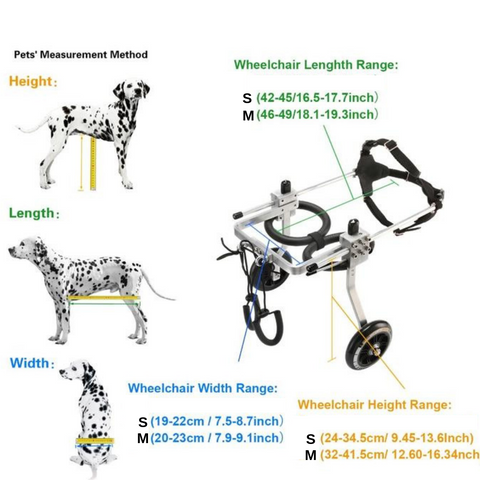 Image of New Dog Wheelchair - Paralyzed Pet Wheelchair/Scooter to Help with Movement and Rehabilitation