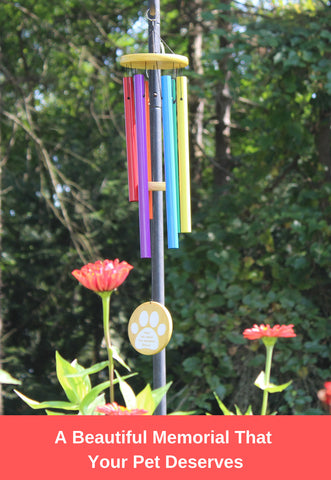 "Image of Humane Goods Rainbow Bridge 25"" Pet Memorial Wind Chime"