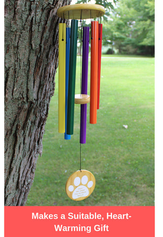 "Humane Goods Rainbow Bridge 25"" Pet Memorial Wind Chime"