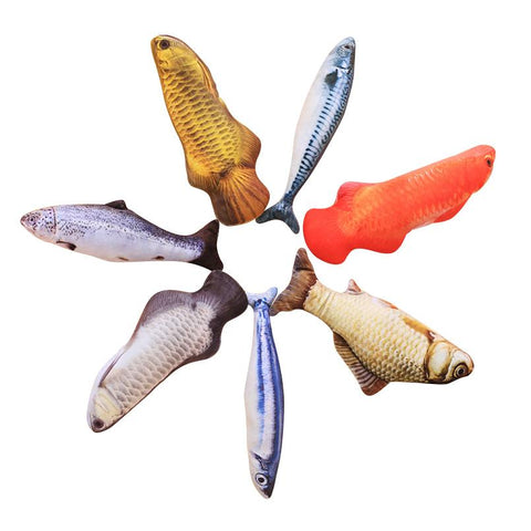 3D Cat Fish Toys - Catnip Stuffed Fish For Playing