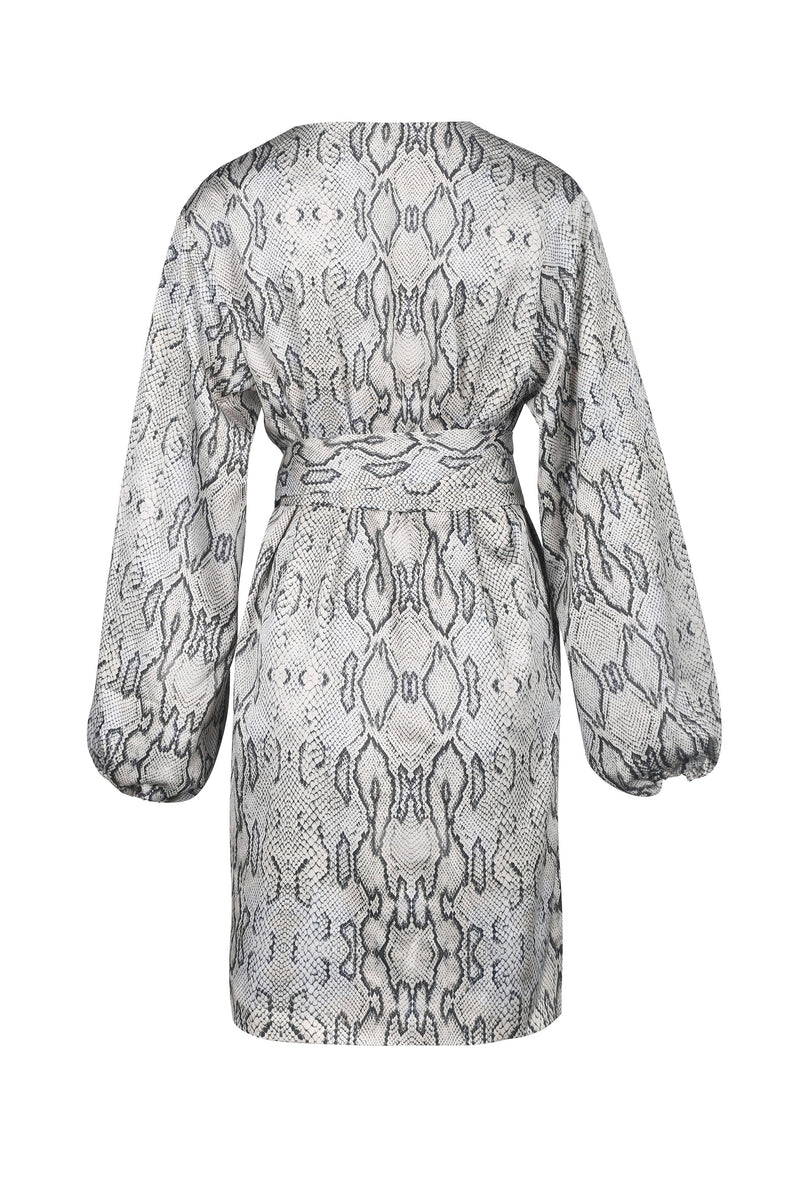 Mia Wrap Dress- Snake Print