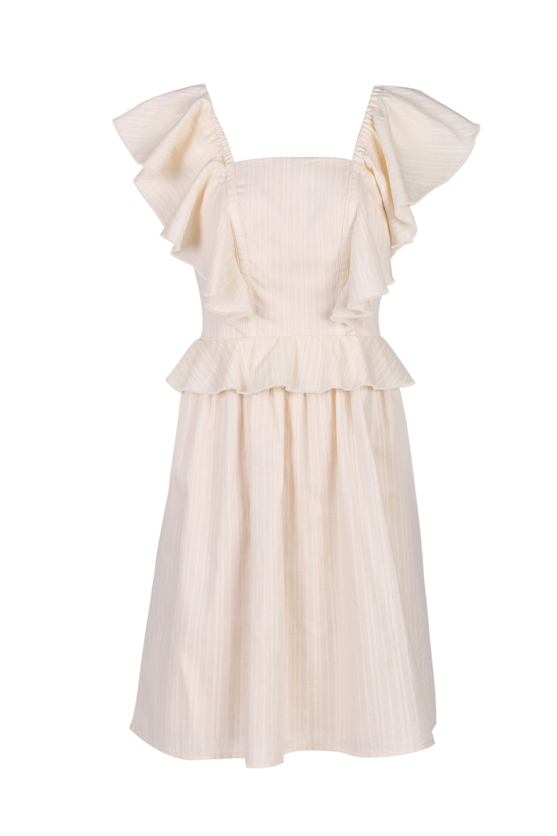 Bianca Fit Flare Dress - Cream