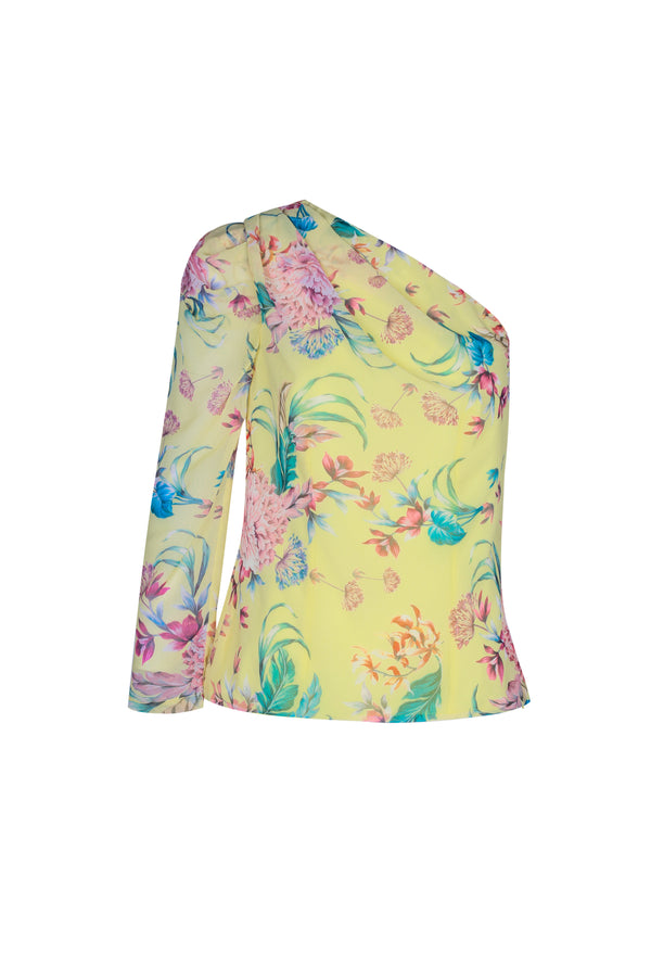 Citrus Fluer Top- Lemon Floral