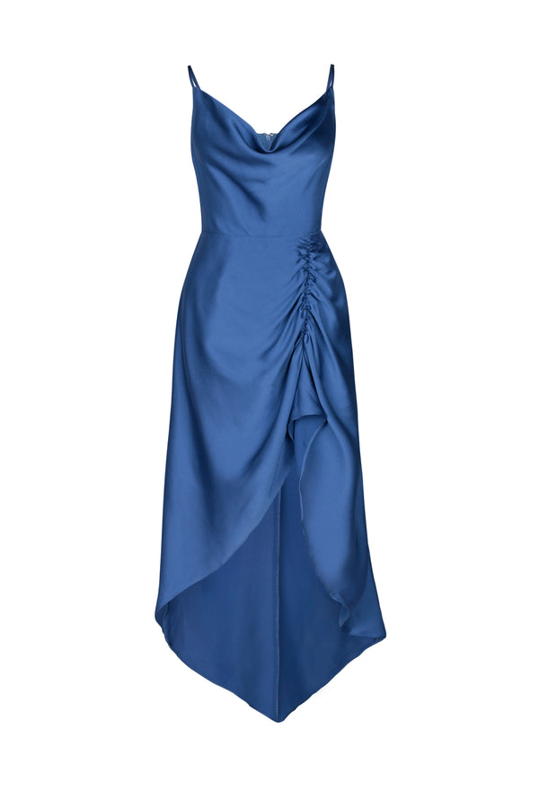 Lana Hi Lo Dress- Atlanic Blue